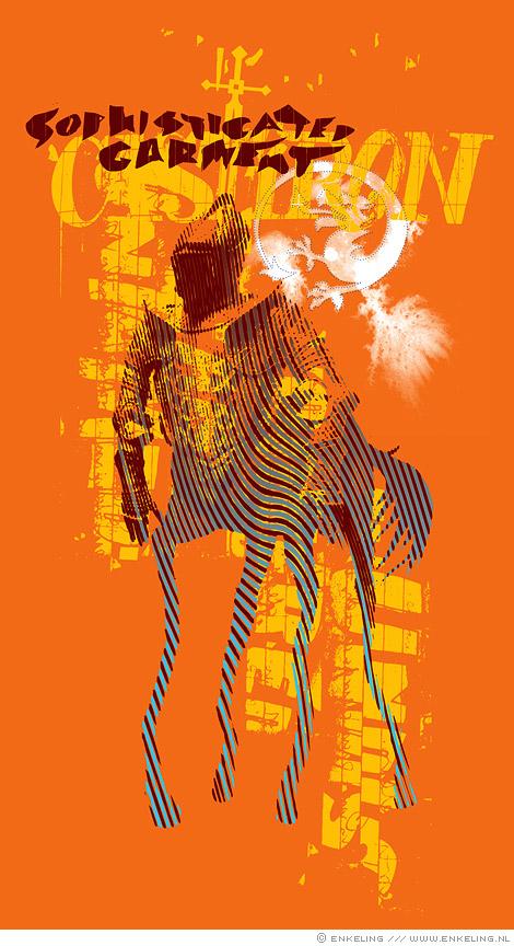 Cast Iron, print centaur, knight, typography, Enkeling, 2010