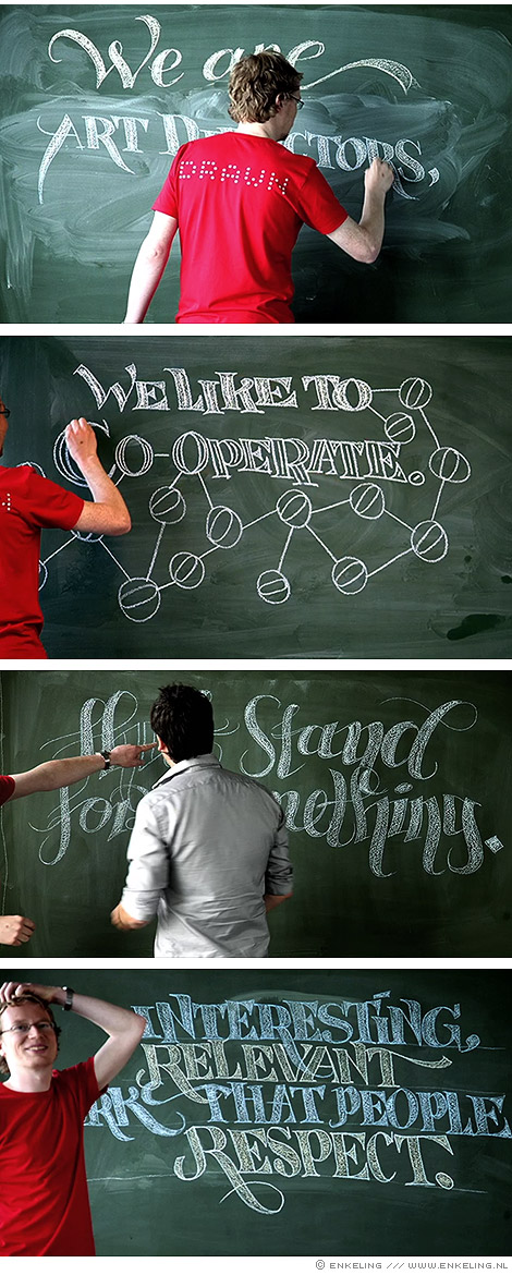 stop motion, chalk, typography, Dawn, Enkeling, 2009