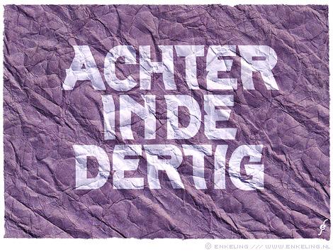 Achter in de dertig, typografie, logo, typography, age, Enkeling, 2011