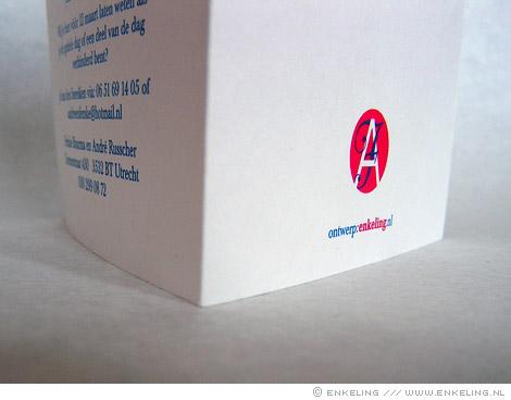 trouwkaart, André, Femke, typografie, portret, 2011