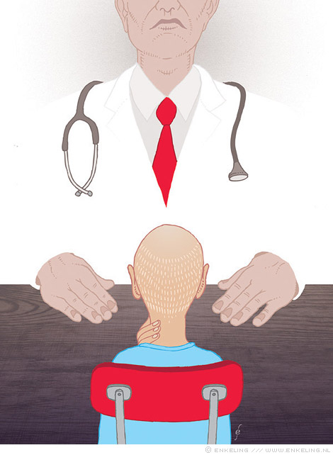 almachtige, arts, dokter, illustratie, illustration, Zin, magazine, commission, Enkeling, 2013