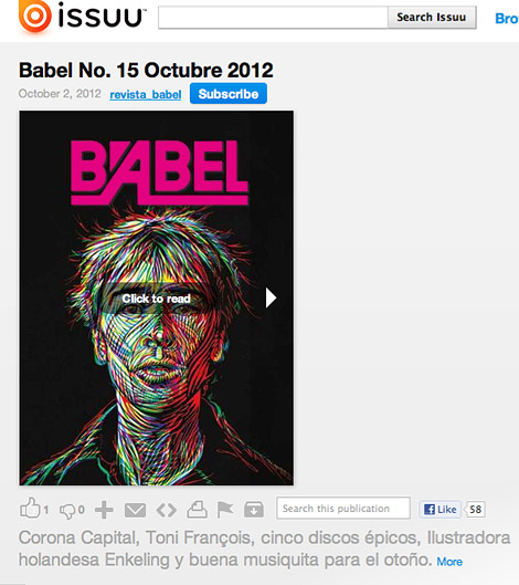 Babel magazine, mexico, design, illustration, typography, cover, artwork, mario garcia cordero, Enkeling, 2012