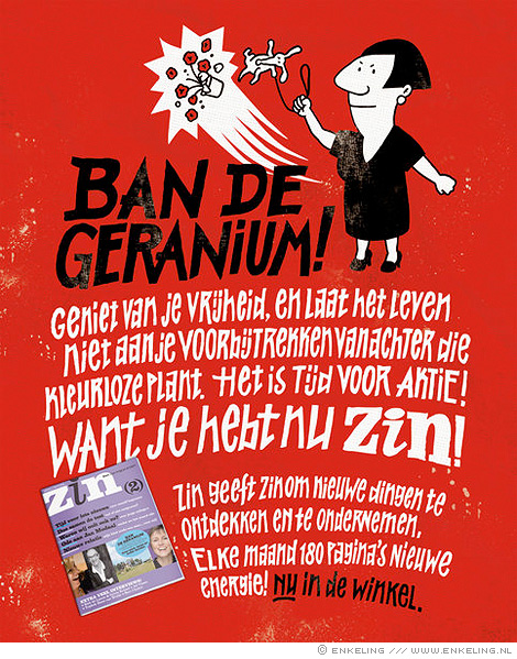 Ban de geranium, typography for Zin