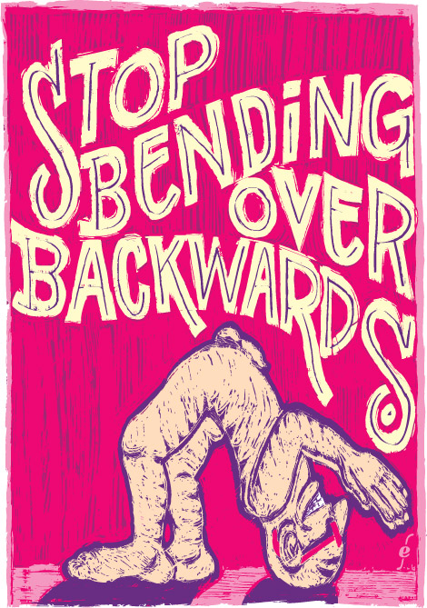 Bending Over Backwards, typografie, new technique, Enkeling, 2009
