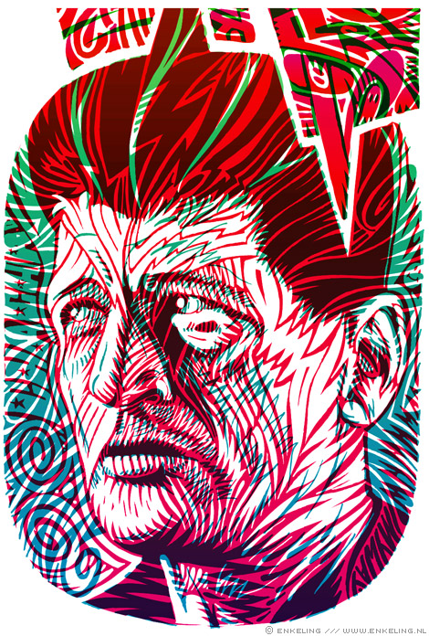 Herman Brood, portrait, in progress, 2009