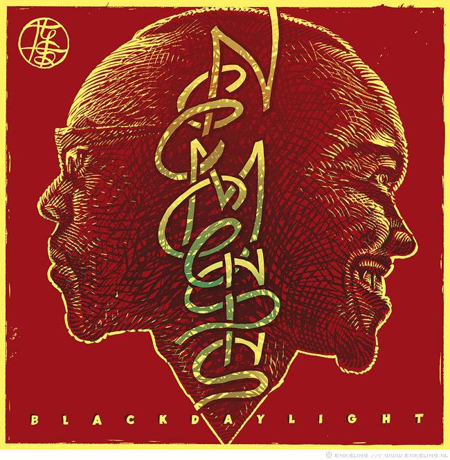 Blackdaylight, Nemesis, cover, typography, drawing, janus head, twofaced, waste of time, Enkeling, 2013