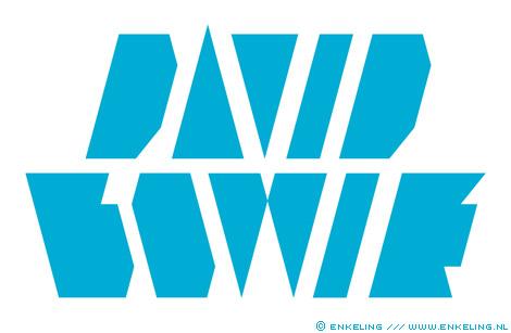 david bowie, logo, typography, enkeling, 2009