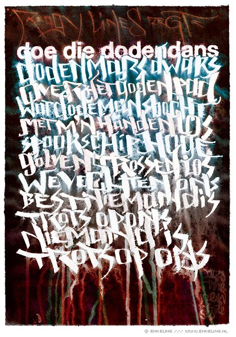 typography based on a lyric by dutch rapper Reggy Lines