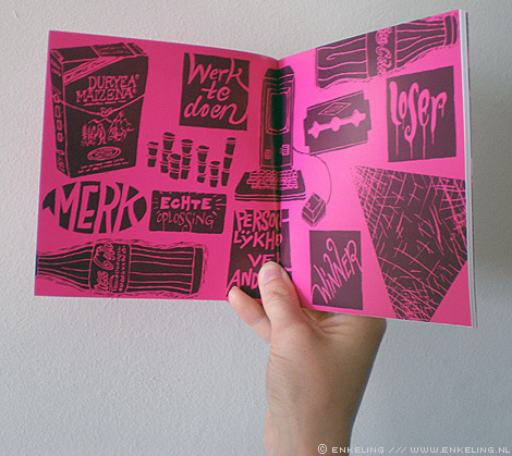 D'r op en d'r over, the food agency, Don Vink, illustrations, typografie, letters, Enkeling, 2012
