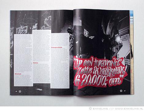 Spuiten en Slikken, doe-boek, drugsdealer, letters, Enkeling, 2011