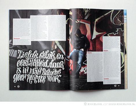 Spuiten en Slikken, doe-boek, drugsdealer, lettering, Enkeling, 2011