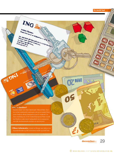 Hypotheekrente, ING, van GOG, objects, illustratie, illustration, echt magazine, Enkeling, 2011