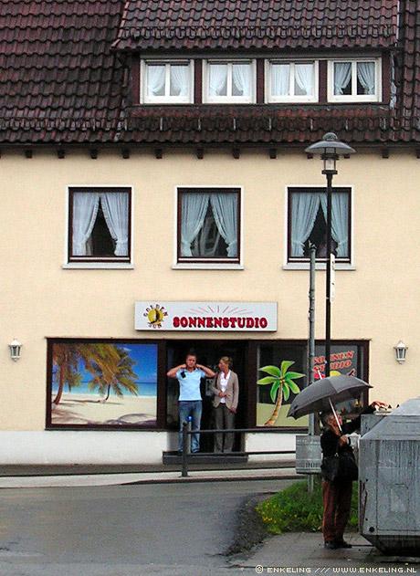 holiday, vakantie, germany, Bad Laasphe, sonnenstudio, rain, greetings, Enkeling, 2010