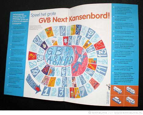 GVB, Kansenbord, game of goose, transport, tram, metro, bus, Amsterdam, Frank Hijlkema, spel, ganzenbord, Enkeling, 2013