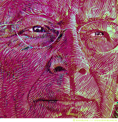heit, detail, portret, canvas, print, 40, Enkeling, 2011