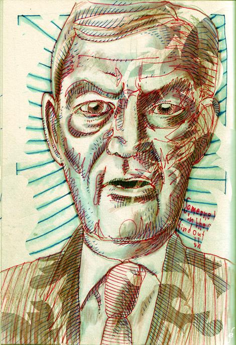 portret van Harry Mulisch