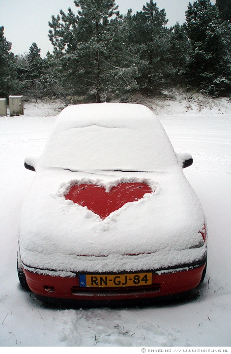 I Heart Snow, hart, sneeuw, Terschelling, Enkeling, 2009