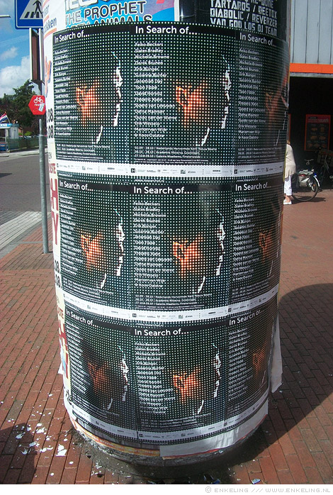 Bas Jan Ader, poster, photo, erikenik, Erik olde Hanhof, In search of, art, billboard, Nieuw-Beerta, Winschoten, Groningen, Enkeling, 2012