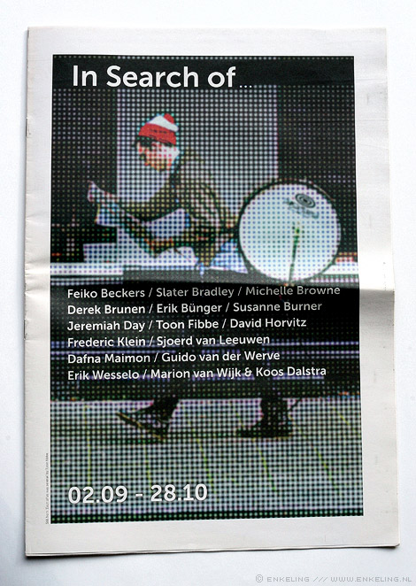 Bas Jan Ader, newspaper, paper, graphic design, erikenik, Erik olde Hanhof, In search of, art, Academie Minerva, Winschoten, Groningen, Enkeling, 2012