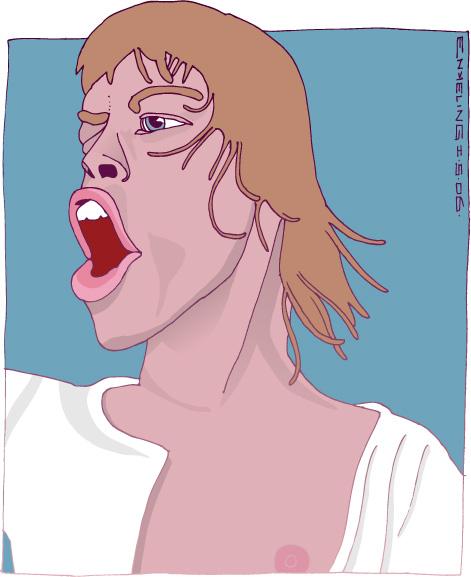 Mick Jagger, portrait, Rolling Stones, Enkeling, 2006