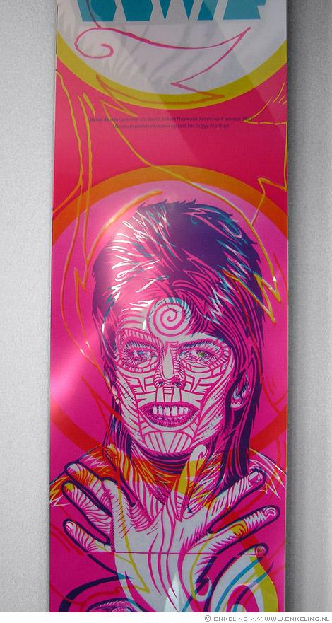 David Bowie, Rockalender, portrait, Zwaan, plastic, Enkeling, 2009