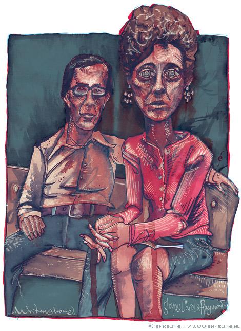 Bernard Gotfryd, Joyce Carol Oates, Raymond Smith, portrait, stoom afblazen, Enkeling, 2011