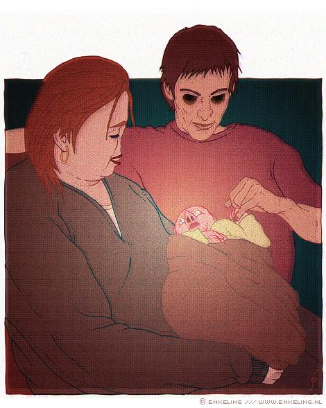 kleine dief, baby, genetica, cartoon, Enkeling, 2011