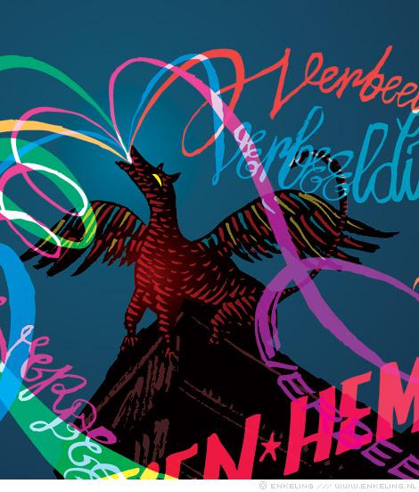 Kristien Hemmerechts, griffioen, griffin, poster, Schrijver op locatie, verbeelding gezocht, Enkeling, 2012