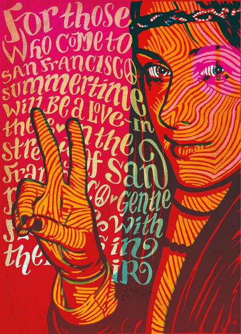 illustratie voor La Vie en Rose