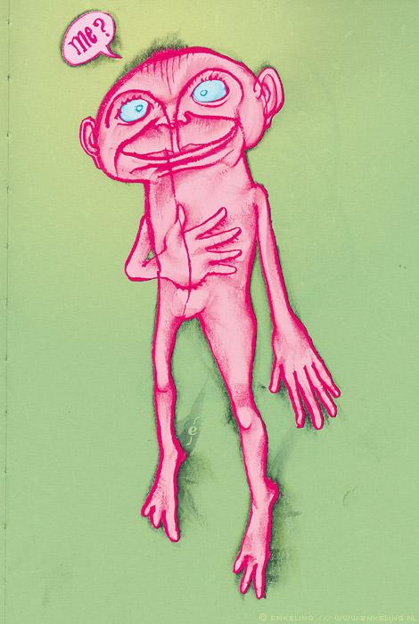 me, surprise, verrassing, little, guy, pink, green, happy easter, Enkeling, 2013