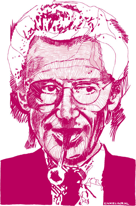 portret, portrait, Harry Mulisch, Enkeling, 2006