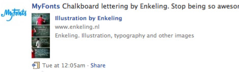 Myfonts, Facebook, blog, Dawn, lettering, typography, Enkeling, 2010