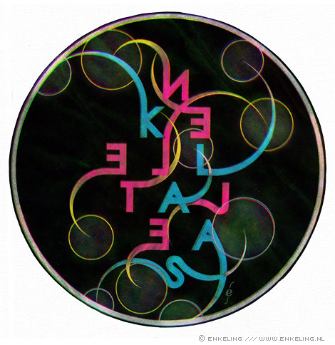 Klaas, Neeltje, Veenstra, tribute, typography, Enkeling, 2010