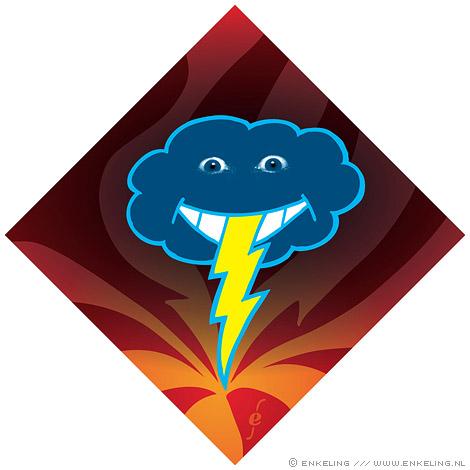 no sticker, thundercloud, donderwolk, Enkeling, 2009