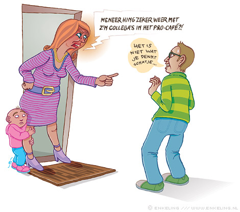 Moe van het nietsdoen, bore-out, illustratie, illustration, Switch Magazine, Enkeling, 2011