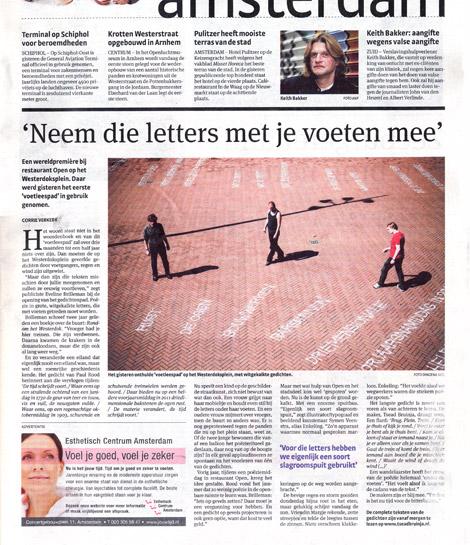 Parool, Voetleespad, scan, Corrie Verkerk, Dingema Mol