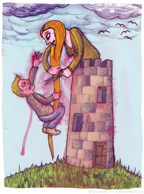 rapunzel, rapunzle, let, down, your, hair, so, i, can, climb, up, and, get, into, your, underwear, Enkeling, 2011