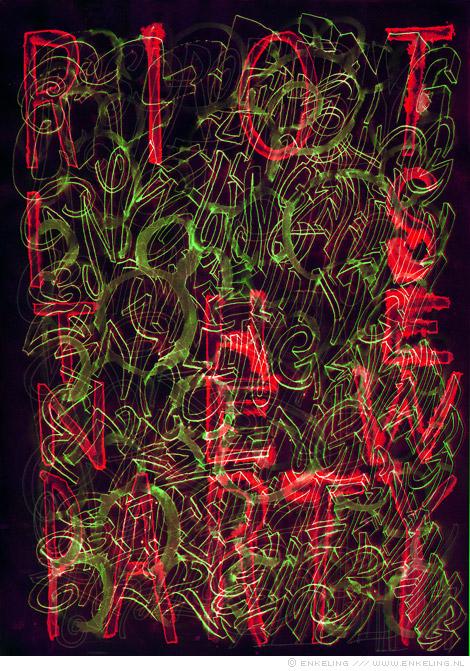 riots, facebook, Haren, Groningen, party, typography, lettering, Enkeling, 2012