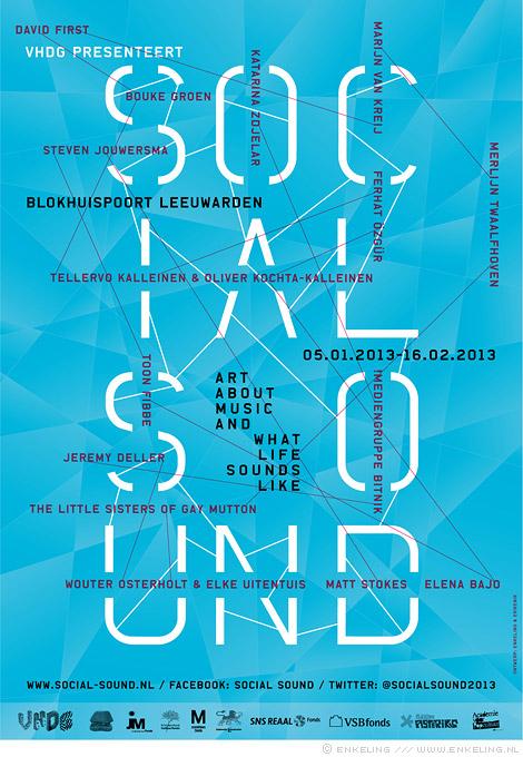 social sound, art, music, life, vhdg, leeuwarden, exhibiton, klaagkoor, graphic design, Erikenik, Enkeling, 2012