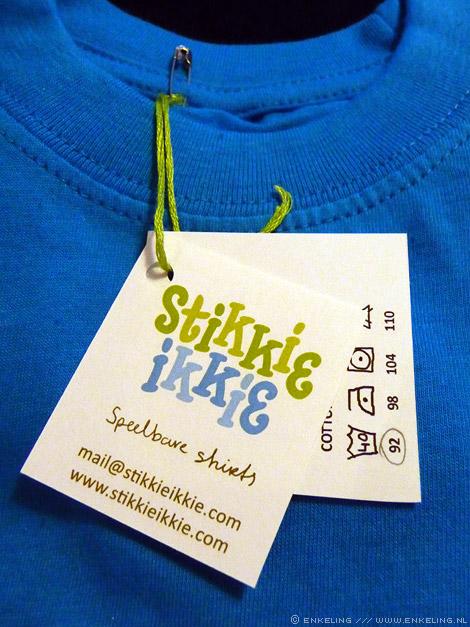 Stikkie Ikkie, clothing, logo, label, klitteband, Janna Kool, Enkeling, 2012
