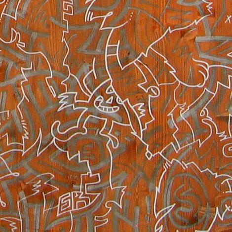 enkeling mural bij studio buffalo