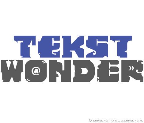Tekstwonder, logo, typography, copywriter, tekst, Anouk van Doornen, Enkeling, 2011