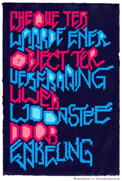 The Wedding Present, typografie, grid, typography, Wim Wepster, Bianca Boer, Enkeling, 2010