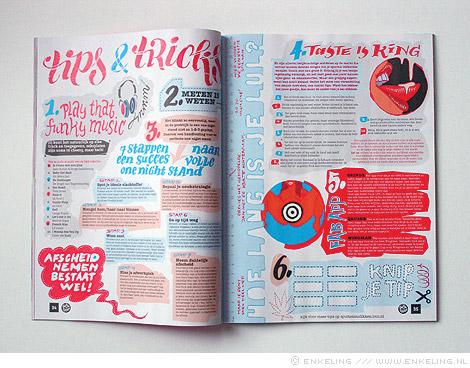 Spuiten en Slikken, doe-boek, typografie, illustratie, Frederike Boomars, Martine Eelman, BNN, Enkeling, 2011