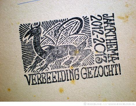 Read-in, Vrije Universiteit, Kristien Hemmerechts, Jan Oegema, Schrijver op locatie, verbeelding gezocht, stempel, Enkeling, 2012
