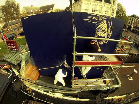 Willem Alexander, portrait, Dremel, multiplex, woodcut, Breda, Enkeling, 2013