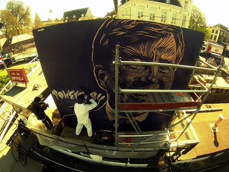 Willem Alexander, portrait, huge, boat, Spinola, Enkeling, 2013