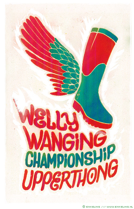 welly, wanging, upperthong, boots, throwing, typography, Enkeling, 2012