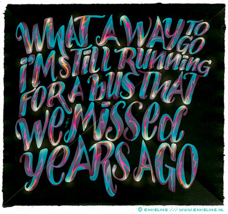 What A Way To Go, Oceansize, Massive Bereavement, typography, vector, Enkeling, 2010