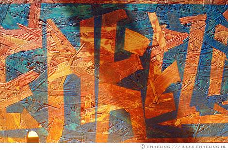 wood, painting, typography, detail, Enkeling, 2010